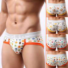 Sexy Men Breathable Stretch Cotton Animal print Boxer Briefs Sportsman Low Waist