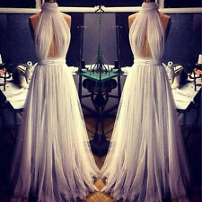 Sexy Womens Chiffon Evening Bridesmaid Ball Gown Dresses Long Prom Party Dress