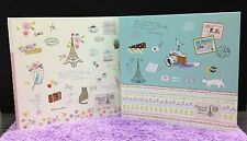 Large! French Style Photo Album Scrapbook Travel Diary Book Romantic Cute Gift