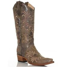 Circle G by Corral Ladies Distressed Filigree Cowgirl Boot L5133 New