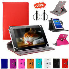 """360°Rotatable Universal Leather Stand Case Cover For 7"""",8"""" Tab Android Tablet PC"""