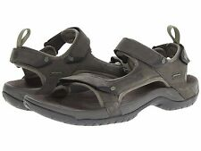 NEW - Men's Teva Tanza LEATHER Sandals - Walnut - 1000183-WAL