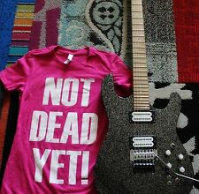 Jason Becker: NOT DEAD YET Battle Cry T-Shirt WOMENS Pink