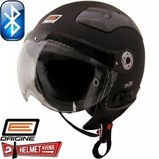 ORIGINE BLUETOOTH MATTE FLAT BLACK SOLID OPEN FACE MOTORCYCLE HELMET DOT XS - XL