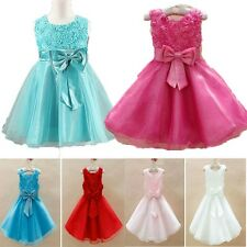 Flower Baby Girl Princess Bow Dress Toddler Wedding Party Pageant Tulle Dresses