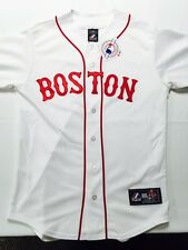 """BOSTON RED SOX fully stiched """"BOSTON"""" throwback jersey !!"""