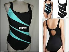 NWT Miraclesuit Sport Helix Swimsuit One piece Black/white,/Surf Retail $138
