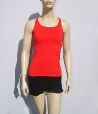 NEW Bebe Womens Orange Seamless Knotted Back Tank-Top Size P/S-M/L