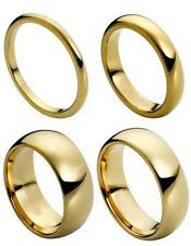 Tungsten Carbide 18k Gold Dome Wedding Engagement Band Promise Ring Mens Classic