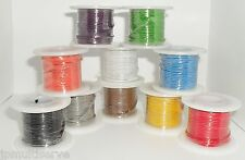 One 25ft Roll Electrical Wire 22g Solid Core 22awg