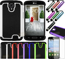Rugged Hard Case Phone Cover for Straight Talk LG Access LTE L31G L31L L31C+GIFT