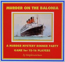1930's MURDER MYSTERY DINNER PARTY GAME ~ for 12-16 players