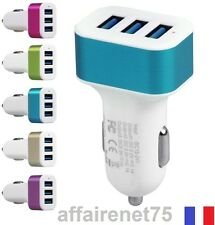 Chargeur Allume Cigare Voiture 3 Ports 2.1A+2A+1 Adapatateur