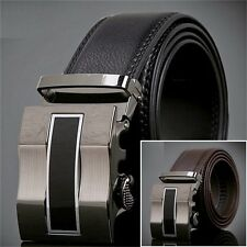 New Fashion Simple Automatic Buckle Waist Belt Mens Leather Busines Alloy Belt