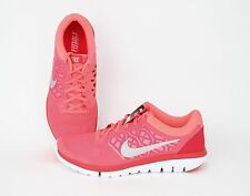 Nike Women Flex 2015 Run Lava Glow, Metallic Silver, Bright Crimson 709021-601