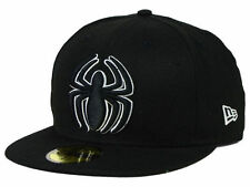 Spiderman Superhero New Era 59Fifty Black & White Fitted Cap Hat $35