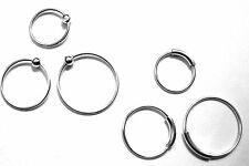 NOSE RING STERLING SILVER 0.6mm THIN PIERCING HOOP CHOOSE FROM 6mm 8mm 10mm DIA.