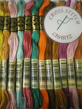 5 - 40 DMC THREADS SKEINS CROSS STITCH FLOSS PYO PICK YOUR OWN COLOURS ALSO 100