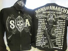 Sons of Anarchy Hoodie Sweatshirt Cities Crossed Guns TV Show SOA New 421