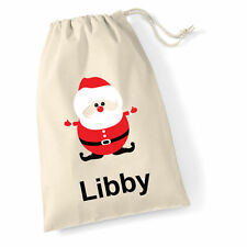 Christmas stocking Santa sack large personalised xmas stocking with your name