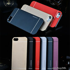 Luxury Motomo Metal Aluminum Brushed Hard Skin Case Cover For iPhone Samsung