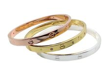 "Bracelet Jonc ""Love Me"" Couleur Argent, Or , Or rose (bangle clou nail tendance)"