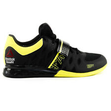 Reebok Crossfit Lifter 2.0 Black/High VIS Green U-Form Weightlifting Shoes NEW!