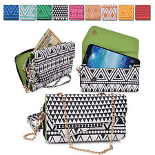 Aztec Form Protective Wallet Case Cover Crossbody Clutch for Smart-Phones X6UC2