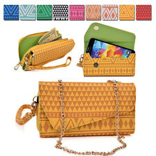 Tribal Protective Wallet Case Cover & Crossbody Clutch for Smart-Phones MLUC20