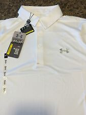 NWT MEN'S UNDER ARMOUR GOLF COLD BLACK HEAT GEAR POLO SHIRT Med or Lg msrp$69.99