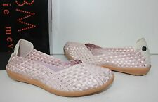 Bernie Mev Catwalk Champagne pink stretch elastic ballet flat shoes EU 37 NEW