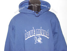 Vintage 90's DUKE BLUE DEVILS The GAME Hoodie Sweatshirt SEWN Block Arch NWT NOS