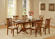 7 PC dining room set Table with a Leaf and 6 chairs for dining