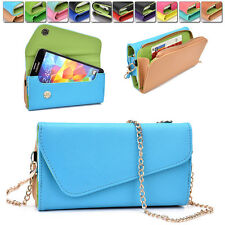 Womens PU Leather Wallet Case Cover & Crossbody Clutch for Smart-Phones MLUB22