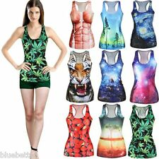 Fashion Women's Summer T-shirt Tank top Vest 3D Print Colorful Casual Camisole