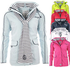 Geographical Norway Damen Übergangs Jacke + Schal Regen Mantel sommer outdoor