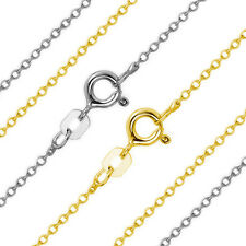 0.80mm 14k Solid Yellow Or White Gold Thin Cable Link Italian Chain Necklace 842