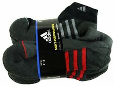 New Adidas Mens 6 Pair Low Cut Performance Cushioned Climalite Socks Sizes 6-12