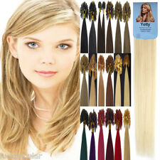 Pre Bonded Keratin Nail U Tipped 100% Real Remy Human Hair Extensions 20Inch100S