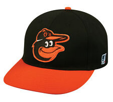 MLB BALTIMORE ORIOLES Baseball ROAD CAP Black HAT Velcro STRAP, YOUTH, ADULT