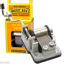 Kikkerland Crankshaft Hand Crank Wind-Up Music Box Melody Various Song Tunes