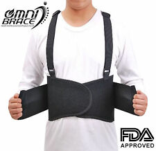 NEW Double Pull  Industrial Heavy Lifting Lower Lumbar Back Support Brace- M-XXL