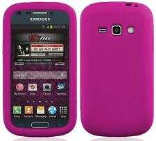 HOT PINK Silicone Skin Gel Case for Samsung Galaxy Ring / Prevail 2 II SPH-M840