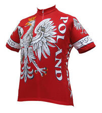 Poland Cycling Jersey by World Jerseys Polish Men's Short Sleeve with DeFeet Sox
