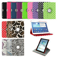 "360 Leather Case Cover Samsung Galaxy Tab 2 / 3 / 4 7"" 8"" 10.1"" / TAB A 9.7 / 8"