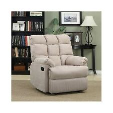 Lazy Boy Recliner Theater Chair Oversized Microfiber Chaise Reclining Lounger