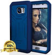 OEM Shockproof Defender Series Armor Case +Screen Guard For SAMSUNG GALAXY S6 BL