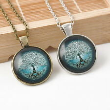Fantasy Tree of Life Necklace Pendant Charm & Chain Best Gifts for Her Mom Girls
