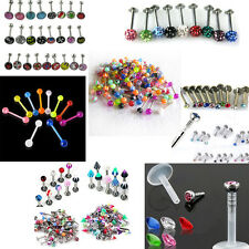 New Whosale Mixed 7/9/10/25/100/110 Lot Bar Rings Body Piercing Jewelry 14g 16g