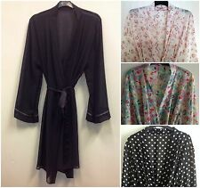 LADIES SHEER CHIFFON DRESSING GOWN/ROBE UK SIZES 10-20